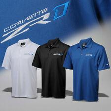 2019 Corvette C7 Mens Nike Dri-Fit Polo Shirt with ZR1 Logo 637631