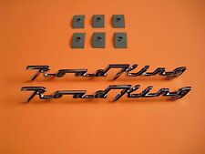 2 Harley Roadking FLHR NEW Front Fender Emblems  +6 speednuts Nameplates
