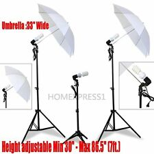 Studio Photography Lighting Kit Point Lighting Umbrella Photo Bulb Lamp LigFh