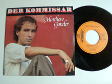 "MATTHEW GONDER: Der Kommissar (FALCO) 7"" 45T 1982 French AQUARIUS AQS1 220030"