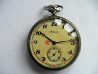 Vintage pocket Watch MOLNIJA WOLVES, SOVIET/USSR, RUSSIA