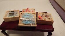 Casa Delle Bambole 4x di Legno Ice Scatole Pesce per da Negozio / / Mercato 1:12
