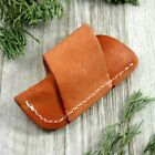 """FOLDING KNIFE SHEATH   Brown Tan Leather Belt Pouch - For Folders up to 3"""""""