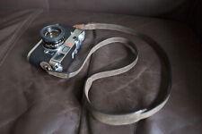 Genuine Real Leather Camera Shoulder Neck strap for film EVIL camera Dark Brown