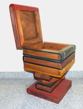 50cm Bücher Holz Hocker Couchtisch Beistelltisch Sitzhocker REDUZIERT v 109 Euro
