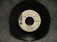 """45 RPM 7"""" Record Paul Downing Camp Meeting U.S.A. & Love Hickory Promo 45-P-1632"""