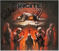 INCITE Oppression Ltd Ed RARE Signed By All 4 CD +FREE Metal Stickers! SOULFLY