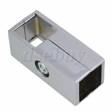 Silver Square Tube Connector 2 Way Clamp Drying Rack Fitting for 25mm Pipe