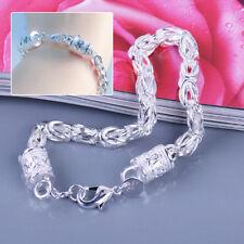 Damen Herren Silber Armband Armreif Armkette Massiv Königskette Königsarmband