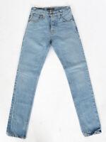 Nudie Herren Regular Tapered Fit Jeans Hose - Steady Eddie Summer Indigo W26 L32