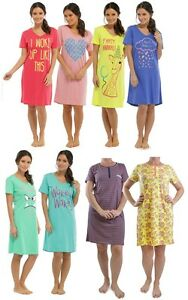 Ladies Summer Cotton Nightdress / Nightshirt / Nightie