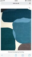 next abstract overlapping geo circle rug 140 X 200cm