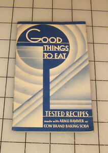 """1936 ARM & HAMMER or COW BRAND Baking Soda """"Good Things to Eat"""" Mini Booklet"""