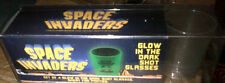 SPACE INVADERS PLASTIC GLOW-IN-THE-DARK SHOT GLASS SET (4) 2013 2013