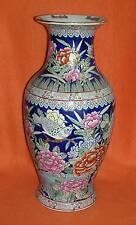 Chinesische Bodenvase China Vase HANDBEMALT Blumen & Vögel SEHR DEKORATIV !!!
