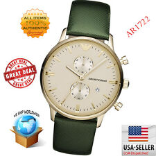 100% Authentic Brand New Emporio Armani Classic Retro Green Strap Watch AR1722