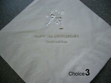 "150 Personalised Anniversary Napkins "" Any Year """