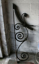 ANTIQUE ARCHITECTURAL SALVAGE FORGED IRON BRACKET  FOR LANTERN SIGN LARGE 57IN