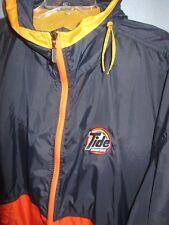 Swingster Tide Racing full zip vented hooded nylon windbreaker jacket sz 2XL