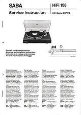 Service Manual-Anleitung für Saba PSP 910