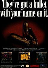 1993 THE UNTOUCHABLES Super Nintendo SNES gangster video game print ad page