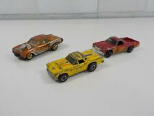 3 Vintage Toy Cars Hot Wheels 57 T-bird and 70 Chevelle 70 El Camino Matchbox
