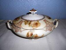 Rare ~ Vintage Hermann Ohem Silesa Old Ivory ~ Oval Covered Vegetable Bowl