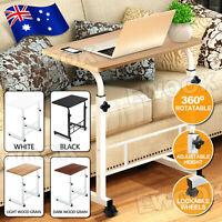 Mobile Laptop Desk Computer Table Stand Adjustable Bed Bedside Portable Office