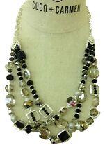 Coco + Carmen Nightingale Collection Silver Tone Triple Strand Necklace#1520256A