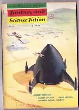 FANTASY & SCIENCE FICTION July 1954, Robert Heinlein, Robert Barr DOOM OF LONDON