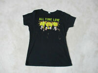 All Time Low Concert Shirt Womens Extra Large Black Band Tour Rock Music Ladies