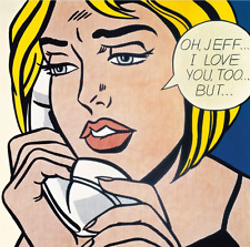 """Roy Lichtenstein """"Oh, Jeff ..."""" HD print on canvas huge wall painting 24x24"""