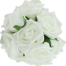 10Pcs Artificial Latex Fake Rose Flowers Wedding Party Bouquet Home Decoration