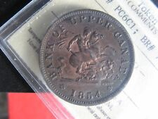 PC-6C1 ICCS MS-60 One Penny token 1854 Bank of Upper Canada Breton 719