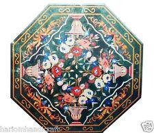 "Size 24""x24"" Marble Coffee Table Top Rare Gems Inlay Mosaic Pietradure Art H1586"