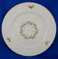 "Dinner Plate: VISTA ALEGRE Portugal China 10.5"" White with Gold Pinecone Detail"