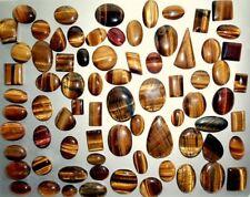 TIGER EYE 2500+ CARATS OF CABOCHONS HALF KILO MIXED SHAPES AND SIZES ALL NATURAL