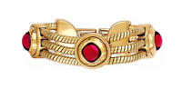 Brighton Versailles Burgundy Swarovski Cabochon Crystals Gold Bracelet NWT $110
