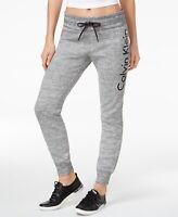 Calvin Klein Womens Performance Fleece Logo Jogger Pants Black Creek Size XS