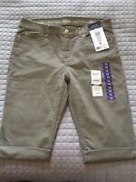 Rafaella Skimmer Denim Pants Size 16 Comfort Career Womens $50 NWT Color Vetiver