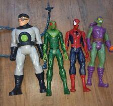 New listingMarvel Avenger figures Spiderman bundle green goblin, doctor 12 inch
