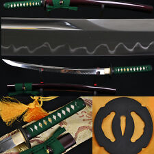 Clay Tempered WAKIZASHI JAPANESE SAMURAI SWORD Battle Ready UNOKUBI-ZUKURI Blade