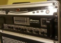 Ampeg SVT-4 PRO Series Tube/Solid-State Bass Amplifier Head, 1600 Watts (MINT)