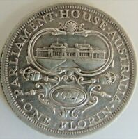 1927 Parliament, AUSTRALIA George V, Silver Florin, Grading Good VERY FINE or +.