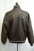 Men's Vintage Guess Jeans USA Leather Bomber Jacket XL 46R