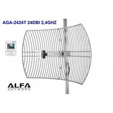 AGA-2424T Antena WIFI parabolica rejilla Alfa AGA-2424T 24dBi Grid N
