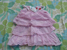Baby Girls Sprout Spot Pink White Tiered Layered Dress Size 1