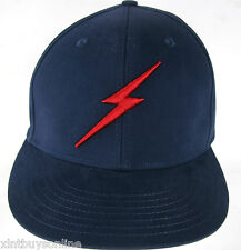 Lightning Bolt Insignia Blue Fitted Baseball Cap Hat 100% Cotton Born In Hawaii