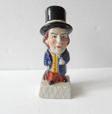 Victorian Glazed Porcelain Charles Dickens Pickwick Papers Ornament