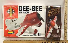 Vintage Gee-Bee Air Racer 1/32 Lindberg  & 1/48 Testors Model Kits Sealed Boxes